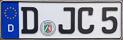 DJC5 license plate